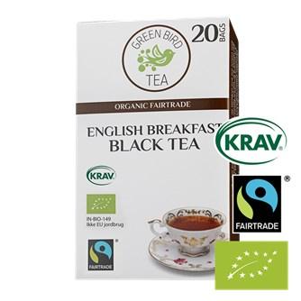 Green Bird English Breakfast Black Tea Økologisk Fairtrade Krav