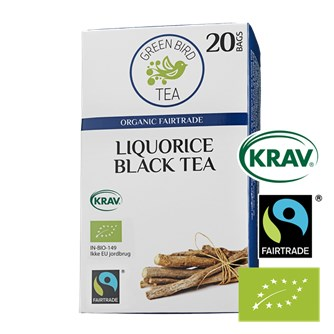 Green Bird Liquorice Black Tea Økologisk Fairtrade Krav