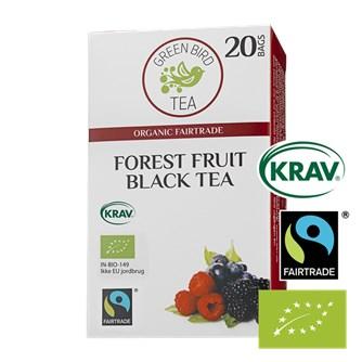 Green Bird Forest Fruit Black Tea Økologisk Fairtrade Krav