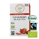 Green Bird  Strawberry Black Tea Økologisk Fairtrade Krav