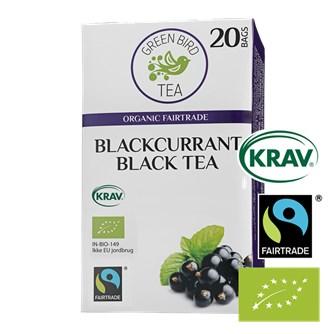 Green Bird Blackcurrant Black Tea Økologisk Fairtrade Krav