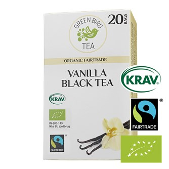 Green Bird Vanilla Black Tea Økologisk Fairtrade Krav