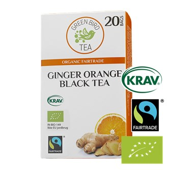 Green Bird Ginger Orange Black Tea Økologisk Fairtrade Krav