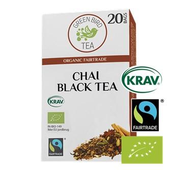 Green Bird Masala Chai Tea Økologisk Fairtrade Krav